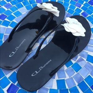 ce1894cfe1cf3c CL by Laundry Shoes - BEAUTIFUL! CL by Laundry flower jelly flip flops